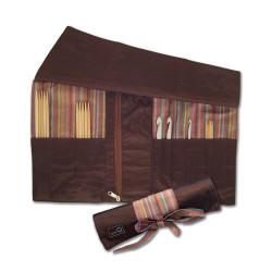 Nadeltasche aus Seide für Nadelspiele & Häkelnadeln