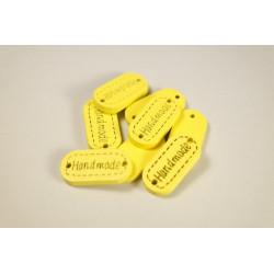 "bunte Label aus Holz ""Handmade"""