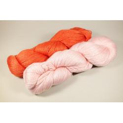 Strickpaket Tuch Bonn - Persimmon & Baby Pink
