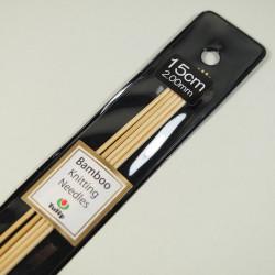 Tulip Nadelspiel Bambus 15cm 2,00mm
