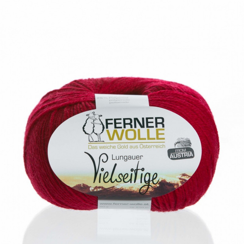 Ferner Wolle Vielseitige 210 - Farbe: V3 rot