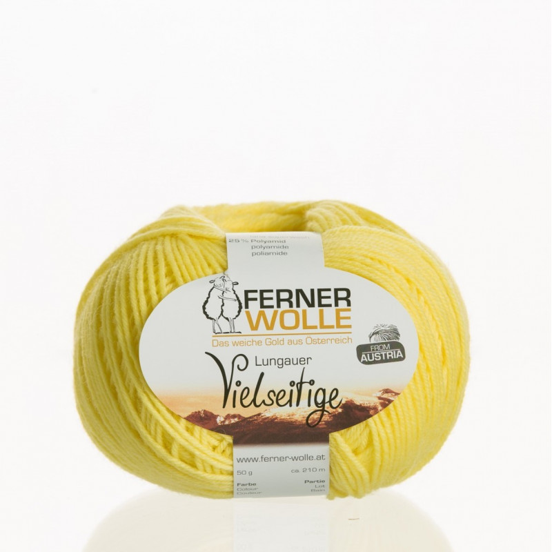 Ferner Wolle Vielseitige 210 - Farbe: V9 gelb