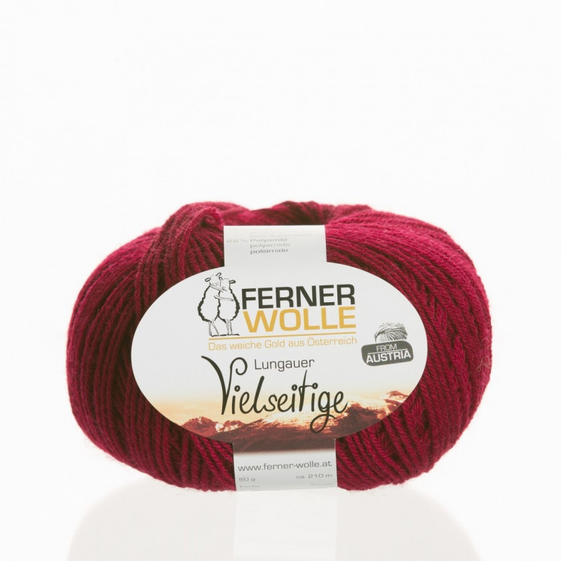 Ferner Wolle Vielseitige 210 - Farbe: V12 bordeaux