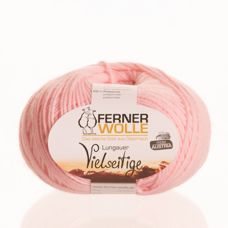 Ferner Wolle Vielseitige 210 - Farbe: V14 rosa