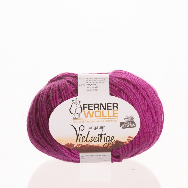 Ferner Wolle Vielseitige 210 - Farbe: V16 magenta