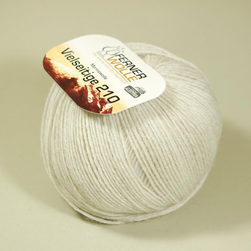 Ferner Wolle Vielseitige 210 - Farbe: V39 weiß melange