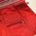Della Q Tri-Fold Straight Seide rot