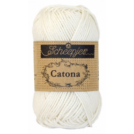 Scheepjes Catona 25 - Fb: 105 Bridal White