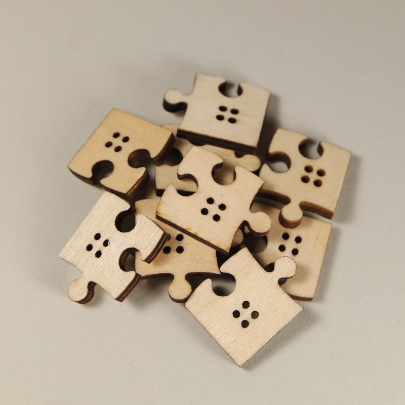 Knopf Puzzle aus Holz