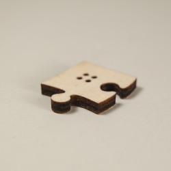 Knopf Puzzle aus Holz