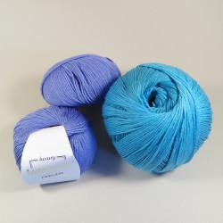"""Häkelpaket Babydecke """"Schnulle"""" - Fb: Blau - Größe: L"""
