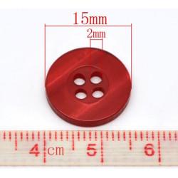 bunte Knöpfe aus Kunstharz 15mm