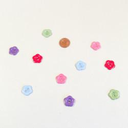 Knopf bunte Blüte aus Kunstharz