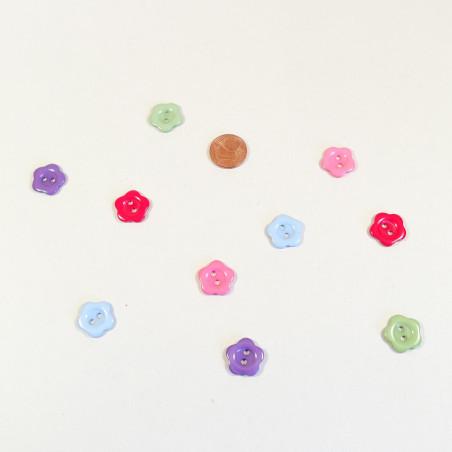 Knopf Blüte bunt aus Kunstharz