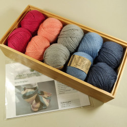Strickpaket Schal Brighton - Fb: Kim