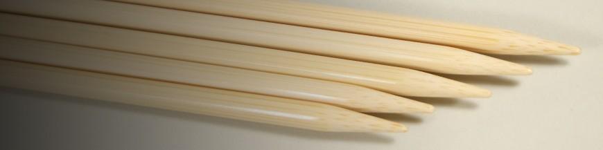 Stricknadeln und Häkelnadeln aus Bambus